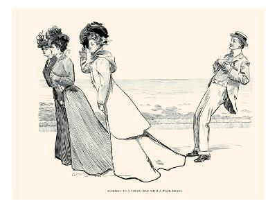 Accident to a Young Man with a Weak Heart-Charles Dana Gibson-Art Print