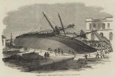 Accident to HMS Perseverance, in Woolwich Dockyard--Giclee Print