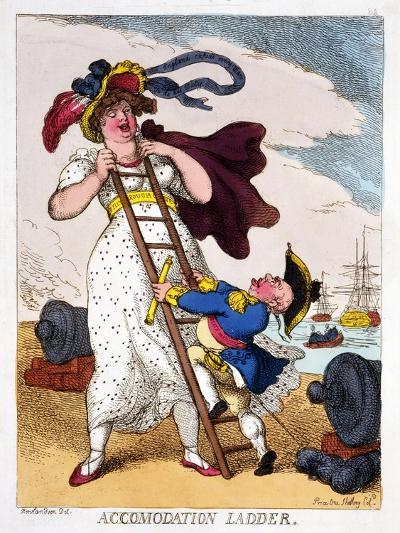 Accommodation Ladder, 1811-Thomas Rowlandson-Giclee Print