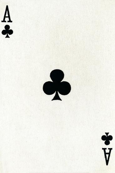 Ace of Clubs from a deck of Goodall & Son Ltd. playing cards, c1940-Unknown-Giclee Print