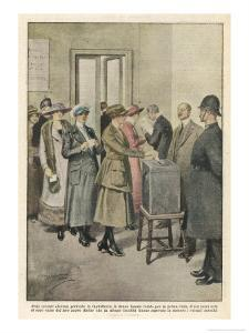 British Women Vote for the First Time by Achille Beltrame