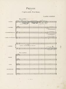 """Prélude à """"l'après-midi d'un faune"""" : Partition d'orchestre : page 1 by Achille-Claude Debussy"""