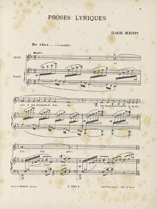 """Proses lyriques : """"De rêve...De grève...De fleurs..De soir..."""" by Achille-Claude Debussy"""