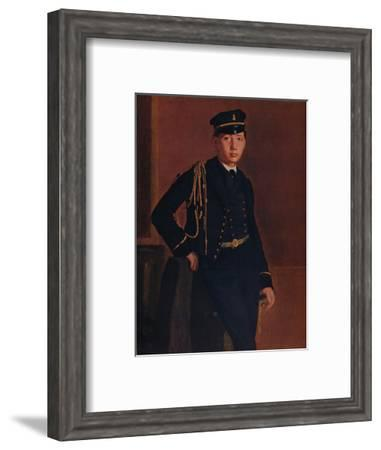 'Achille de Gas in the Uniform of a Cadet', 1856-1857-Edgar Degas-Framed Giclee Print