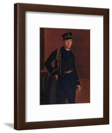 'Achille de Gas in the Uniform of a Cadet', 1856-1857-Edgar Degas-Framed Giclee Print