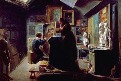 In the Artist's Studio, 1820-30