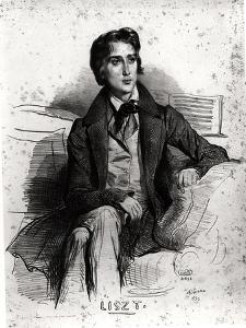 Portrait of Franz Liszt (1811-86) August 1832 by Achille Deveria