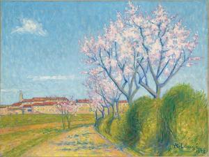 Arbes en Fleurs a l'Entree de Cailhavel, 1928 by Achille Lauge
