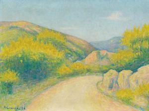 Route de Campagne, 1928 by Achille Lauge