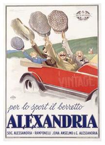 Alexandria Berretto by Achille Luciano Mauzan
