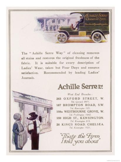 Achille Serre, Cleaners and Dyers--Giclee Print