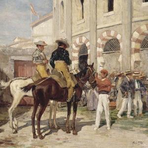 Picador à l'entrée des Arènes by Achille Zo