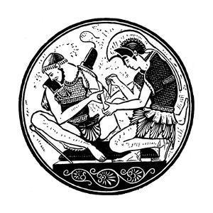 Achilles Bandaging the Wound of Patroclus, C1900