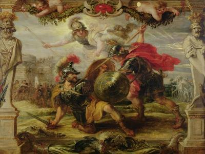 Achilles Defeating Hector, 1630-32-Peter Paul Rubens-Giclee Print