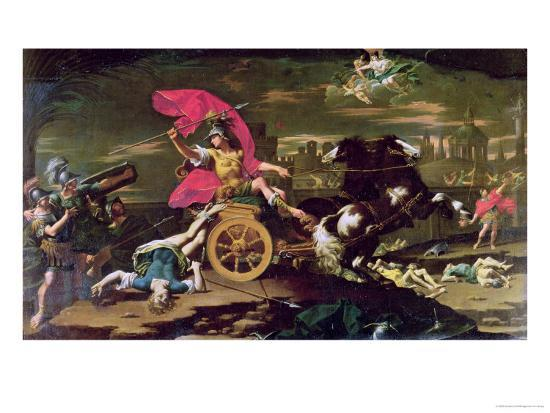 Achilles Dragging the Body of Hector Around the Walls of Troy Giclee Print  by Donato Creti   Art com