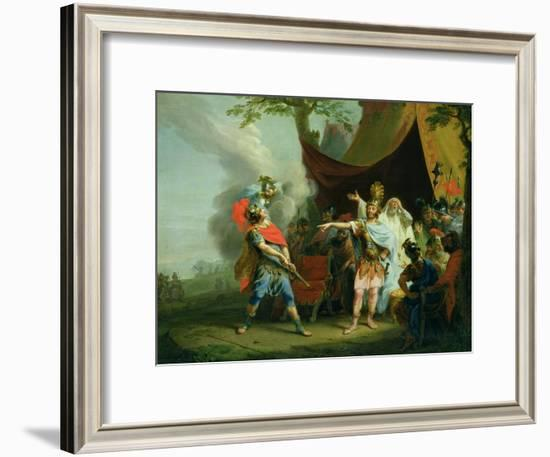 Achilles Has a Dispute with Agamemnon, 1776-Johann Heinrich Tischbein-Framed Giclee Print