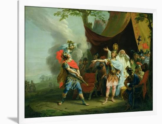 Achilles Has a Dispute with Agamemnon, 1776-Johann Heinrich Tischbein-Framed Giclee Print
