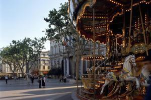 Avignon, Square - Provence, France by Achim Bednorz