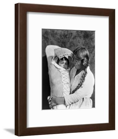 Achomawi Mother, C1923-Edward S^ Curtis-Framed Photographic Print