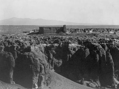 Acoma from the South-Edward S^ Curtis-Photographic Print