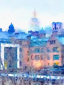 Watercolor New York by Acosta