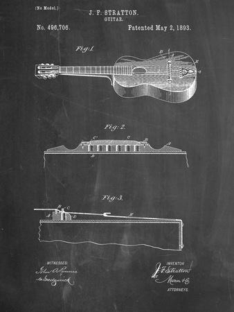 Acoustic Guitar Patent--Art Print
