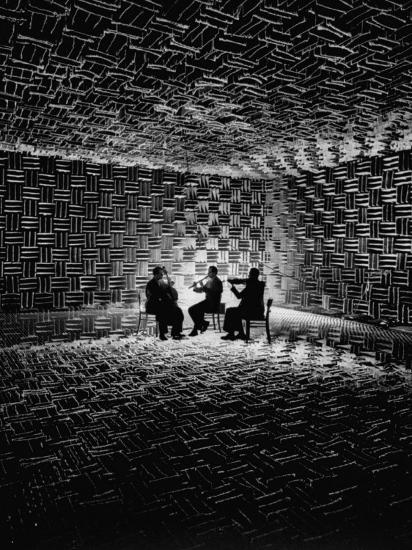 Acoustical Research Room Lined with Glass Fiber Wedges, at Gottingen  University Photographic Print by Ralph Crane   Art com