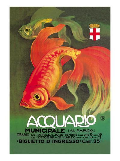 Acquario-Leopoldo Metlicovitz-Art Print