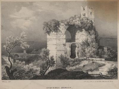 Acqueduc Romain, 1827-Louis Jules Frederic Villeneuve-Giclee Print