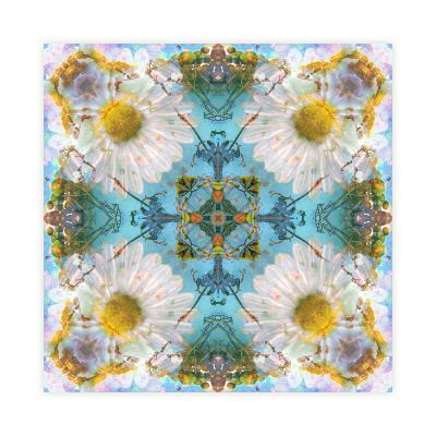 Acre Flower Mandala-Alaya Gadeh-Art Print