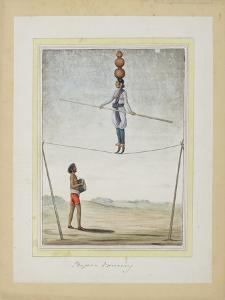 Acrobat on a Tightrope, Drummer Below, C.1820