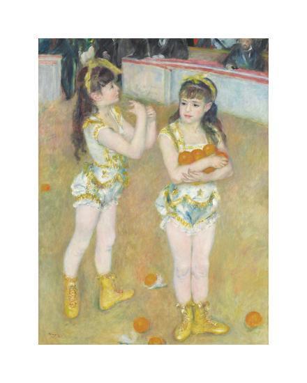 Acrobats at the Cirque Fernando (Francisca and Angelina Wartenberg), 1879-Pierre-Auguste Renoir-Premium Giclee Print