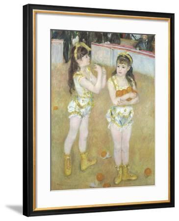 Acrobats at the Cirque Fernando, Francisca and Angelina Wartenberg, 1879-Pierre Auguste Renoir-Framed Giclee Print