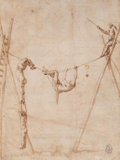 Acrobats on a Rope-Jos? de Ribera-Giclee Print