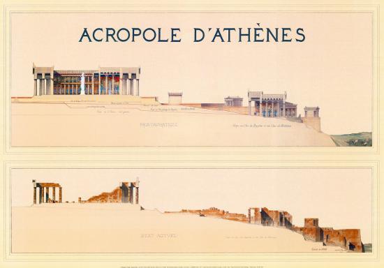 Acropole-Marcel Lambert-Art Print