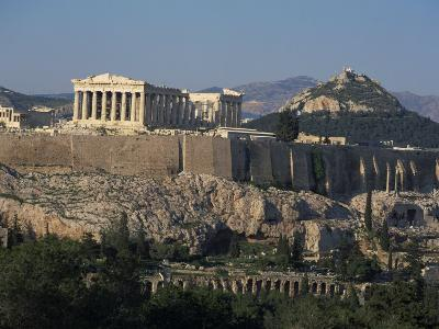 Acropolis, UNESCO World Heritage Site, from Opposite Hillside, Athens, Greece, Europe-Charles Bowman-Photographic Print