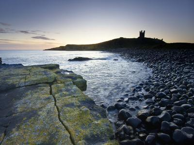 Across Rumble Churn at Dawn Towards Ruins of Dunstanburgh Castle, Northumberland, England-Lee Frost-Photographic Print