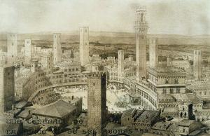 Across Siena, Fragments d'Architecture du Moyen Age et de La Renaissance, Engraved Chauvet