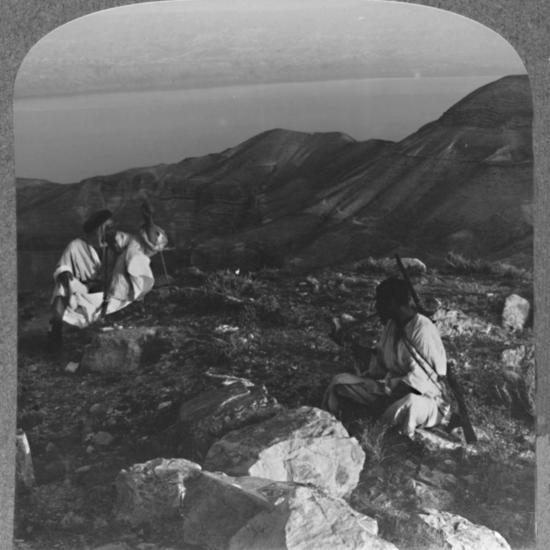'Across the Dead Sea from Machaerus', c1900-Unknown-Photographic Print