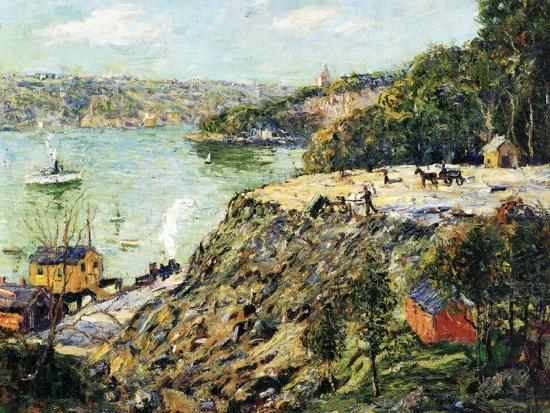 Across the River, New York, C.1910-Ernest Lawson-Giclee Print