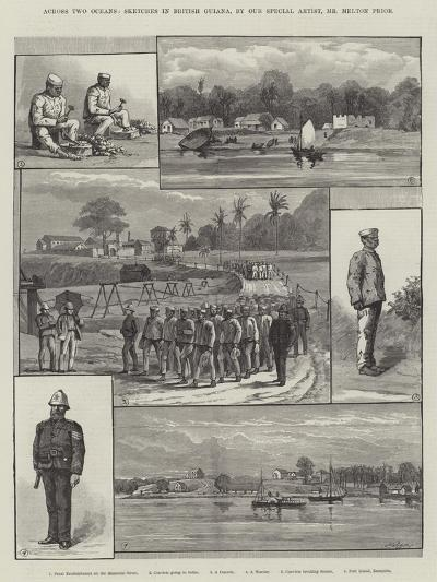 Across Two Oceans, Sketches in British Guiana-Melton Prior-Giclee Print