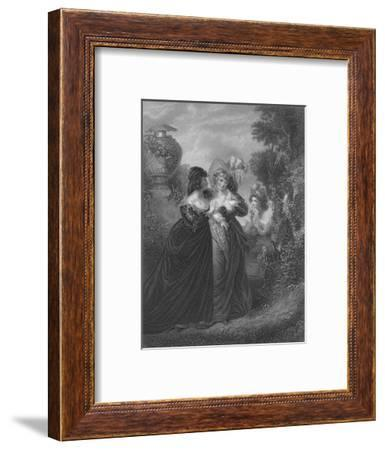 Act III Scene i from Much Ado About Nothing, c19th century--Framed Giclee Print