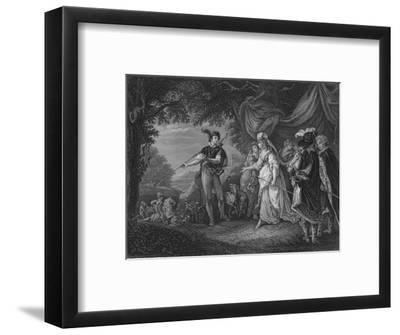 Act IV Scene i from Loves Labour Lost, c19th century--Framed Giclee Print