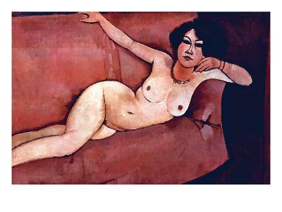 Act on a Sofa (Almaiisa)-Amedeo Modigliani-Art Print