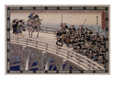 Acte XI, attaque nocturne, 4 : la retraite-Ando Hiroshige-Giclee Print