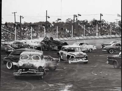 Action at a Demolition Derby-Henry Groskinsky-Photographic Print