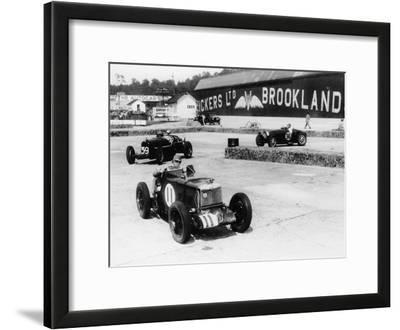 Action from the British Empire Trophy Race, Brooklands, Surrey, 1935