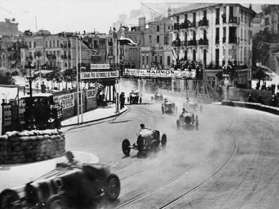 Action from the Monaco Grand Prix, 1929--Photographic Print