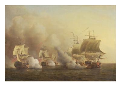 Action Off the Cape of Good Hope, March 9Th, 1757-Samuel Scott-Giclee Print