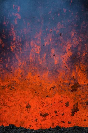 Active Lava Eruption on the Tolbachik Volcano, Kamchatka, Russia, Eurasia-Michael-Photographic Print